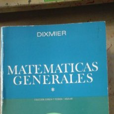 Libros de segunda mano de Ciencias: MATEMÁTICAS GENERALES. TOMO I (MADRID, 1974). Lote 166533530