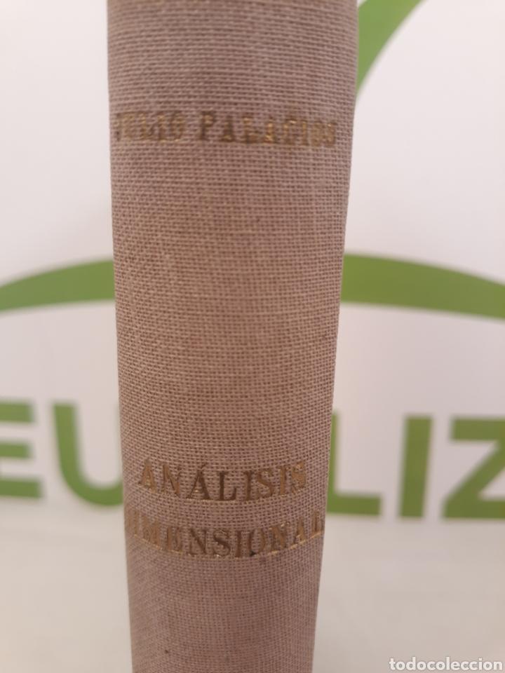 ANALISIS DIMENSIONAL.JULIO PALACIOS.1956 ESPASA. (Libros de Segunda Mano - Ciencias, Manuales y Oficios - Física, Química y Matemáticas)