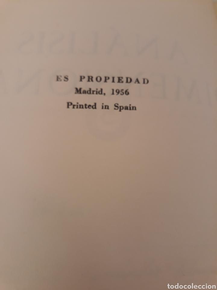 Libros de segunda mano de Ciencias: Analisis dimensional.Julio Palacios.1956 Espasa. - Foto 4 - 166885889