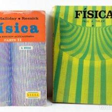Libros de segunda mano de Ciencias: DOS LIBROS DE FISICA DE DAVID HALLIDAY, ROBERT RESNICK Y PAUL A. TIPLER. Lote 167061356