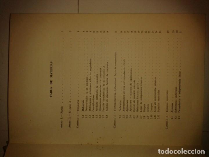 Libros de segunda mano de Ciencias: ÁLGEBRA LINEAL Y PROGRAMACIÓN LINEAL 1967 JEAN ACHER 1ª EDICIÓN MONTANER Y SIMON - Foto 3 - 167566684