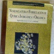 Libros de segunda mano de Ciencias: NOMENCLATURA Y FORMULACIÓN DE QUÍMICA INORGÁNICA Y ORGÁNICA - BRUÑO 1986 - VER INDICE. Lote 167574052