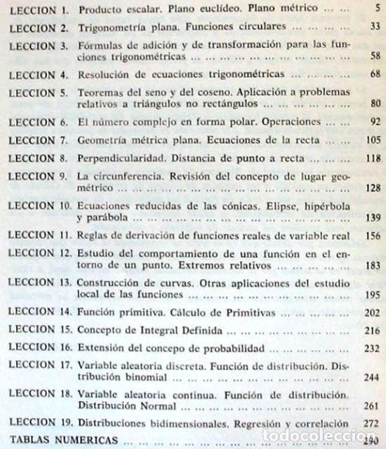 Libros de segunda mano de Ciencias: MATEMÁTICAS 3º BACHILLERATO - J. M. GRACIA / E. RUBIO / R. RUIZ / M. SAN MIGUEL 1977 - VER INDICE - Foto 2 - 195355076