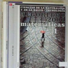 Libros de segunda mano de Ciencias: ALGORITMO 2001 MATEMÁTICAS 1 BACHILLERATO - J. VIZMANOS / M. ANZOLA - ED. SM - VER INDICE. Lote 167734060