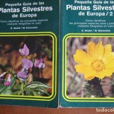 Libros de segunda mano: COLECCIÓN PEQUEÑA GUIA DE LAS PLANTAS SILVESTRES DE EUROPA – OMEGA – 2 LIBRILLOS. Lote 167780576