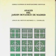 Libros de segunda mano: ANALES DEL JARDÍN BOTÁNICO DE MADRID TOMOS 47 (I Y II), 48 (I) Y 37 (I) - C.S.I.C. - SIN USAR. Lote 167795316