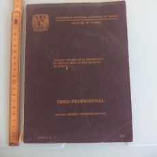 Libros de segunda mano de Ciencias: QUIMICA TESIS ESTUDIO TECNICO PREPARACIÓN DE MEZCLAS SECAS DE POLI. MANUEL VICENTE SARMIENNTO DONATE. Lote 167872692