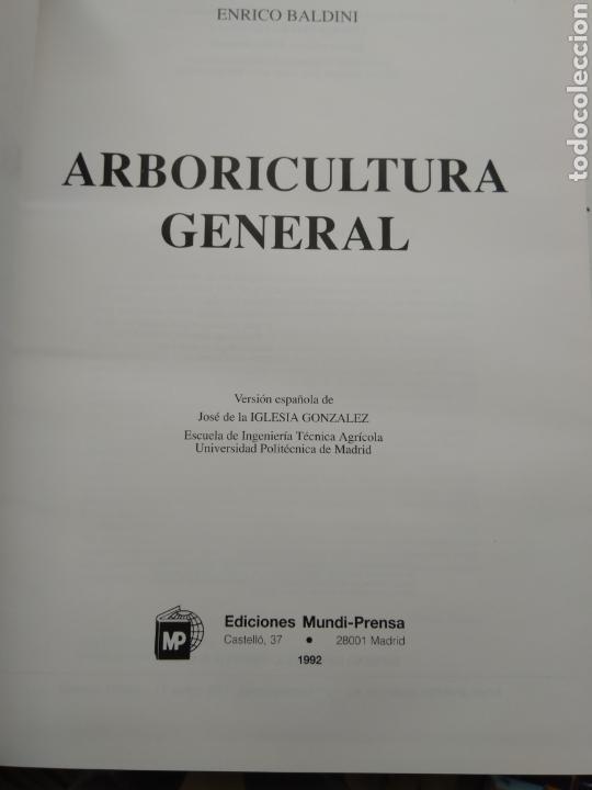 Libros de segunda mano: ARBORICULTURA GENERAL/ENRICO BALDINI - Foto 2 - 167970906