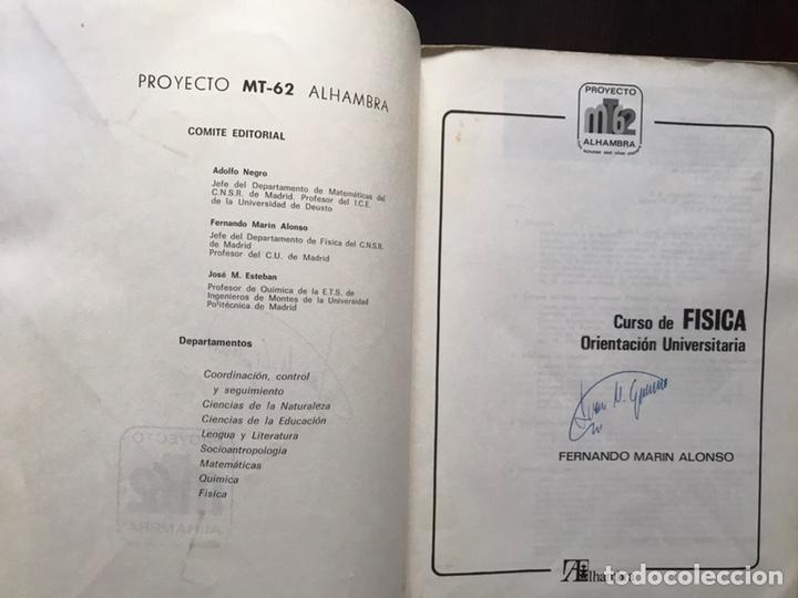 Libros de segunda mano de Ciencias: Curso de física. Orientación universitaria. F. Marín Alonso. Alhambra - Foto 2 - 167979098
