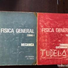 Libros de segunda mano de Ciencias: FÍSICA GENERAL TOMO I: MECÁNICA. TOMO II: TERMODINÁMICA. MUY DIFÍCIL. Lote 167979474