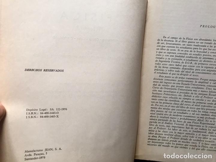 Libros de segunda mano de Ciencias: Física. Tomo I. Mecánica. Ondas. Calor. Electricidad. Francisco Corchón - Foto 3 - 167980046