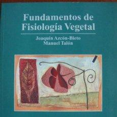 Libros de segunda mano: FUNDAMENTOS DE FISIOLOGIA VEGETAL. Lote 168081272