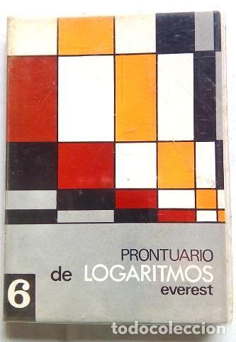 PRONTUARIO DE LOGARITMOS (Libros de Segunda Mano - Ciencias, Manuales y Oficios - Física, Química y Matemáticas)