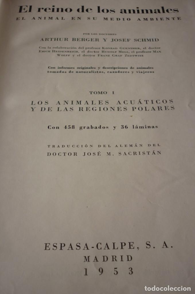 Libros de segunda mano: 1953 EL REINO DE LOS ANIMALES. ESPASA CALPE. TRES TOMOS. COMPLETA - Foto 3 - 168373880