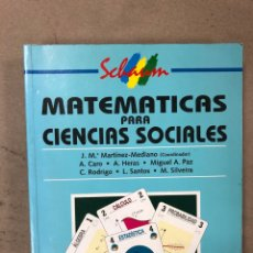 Libros de segunda mano de Ciencias: MATEMÁTICAS PARA CIENCIAS SOCIALES. VV.AA. ED. MCGRAWHILL 1994.. Lote 168822497