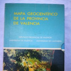 Libros de segunda mano: MAPA GEOCIENTÍFICO DE LA PROVINCIA DE VALENCIA-GEOLOGÍA -CARTOGRAFÍA ANEXO ENVÍO CERTIFICADO 9, 99. Lote 222052742
