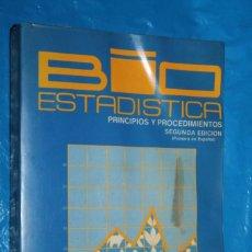 Livros em segunda mão: BIO ESTADISTICA, PRINCIPIOS Y PROCEDIMIENTOS, STEEL-TORRE, MC GRAW-HILL, 2ª EDICION 1986. Lote 168858308
