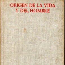 Libros de segunda mano: ORIGEN DE LA VIDA Y DEL HOMBRE POR ADOLF HAAS. SECCION V. HISTORIA Y HAGIOGRAFIA. Nº231. Lote 168905232