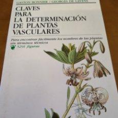 Libros de segunda mano: CLAVES PARA LA DETERMINACIÓN DE LAS PLANTAS VASCULARES. Lote 168913261