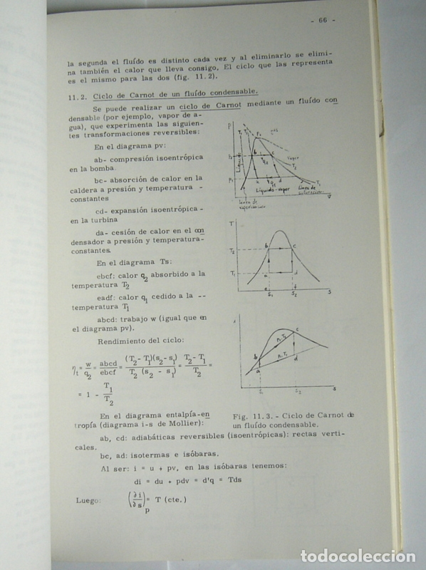 Libros de segunda mano de Ciencias: TERMODINAMICA PARA INGENIEROS - JAIME ORTIZ-CAÑAVATE - UNIVERSIDAD POLITECNICA DE MADRID. 1977 - Foto 6 - 169042316