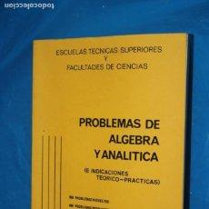 Libros de segunda mano de Ciencias: PROBLEMAS DE ALGEBRA Y ANALITICA, 900 PROBLEMAS RESUELTOS, 400 PROBLEMAS PROPUESTOS CON SOLUCION. Lote 169214824