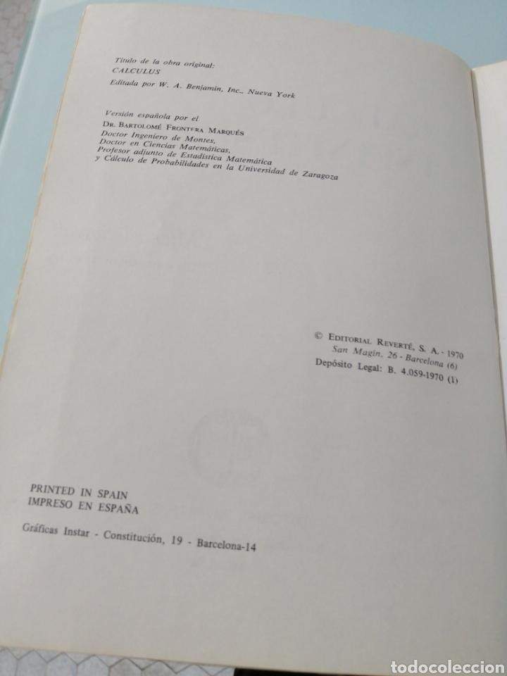 Libros de segunda mano de Ciencias: CALCULUS. MICHAEL SPIVAK. Primera edición. 1970. Libro genial de Cálculo Infinitesimal. - Foto 5 - 169379188
