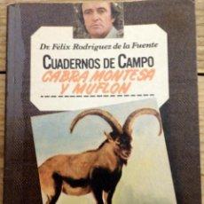 Libros de segunda mano: CUADERNOS DE CAMPO - FÉLIX RODRÍGUEZ DE LA FUENTE Nº 7 - CABRA MONTESA Y MUFLON. Lote 169406624