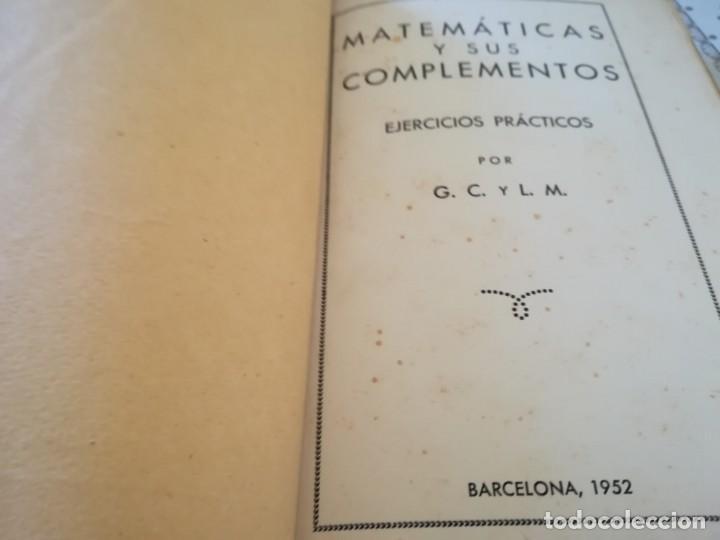 Libros de segunda mano de Ciencias: Matemáticas y sus complementos. Ejercicios prácticos - 1952 - Foto 8 - 169910276