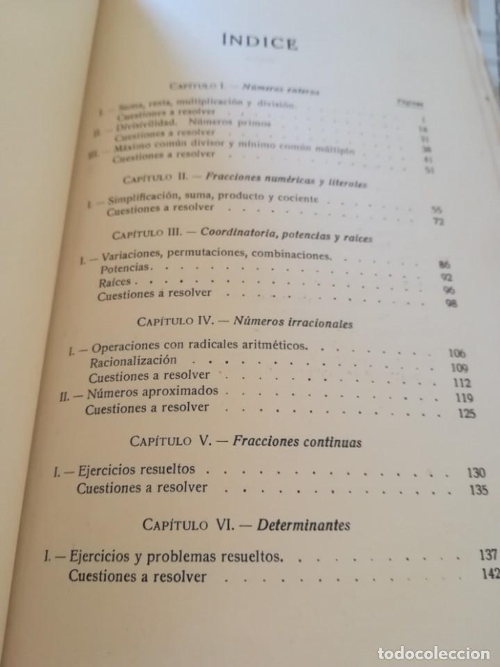 Libros de segunda mano de Ciencias: Matemáticas y sus complementos. Ejercicios prácticos - 1952 - Foto 9 - 169910276