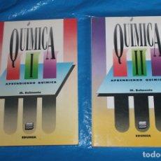 Libros de segunda mano de Ciencias: QUIMICA I Y II, APRENDIENDO QUIMICA, M. BELMONTE, EDUNSA 1991. Lote 169925704