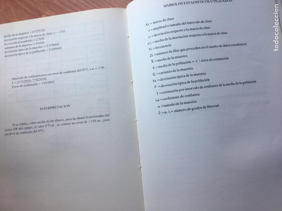 Libros de segunda mano: LAS DUNAS DE MASPALOMAS: GEOLOGIA E IMPACTO DEL ENTORNO. universidad politécnica las Palmas - Foto 6 - 169951152