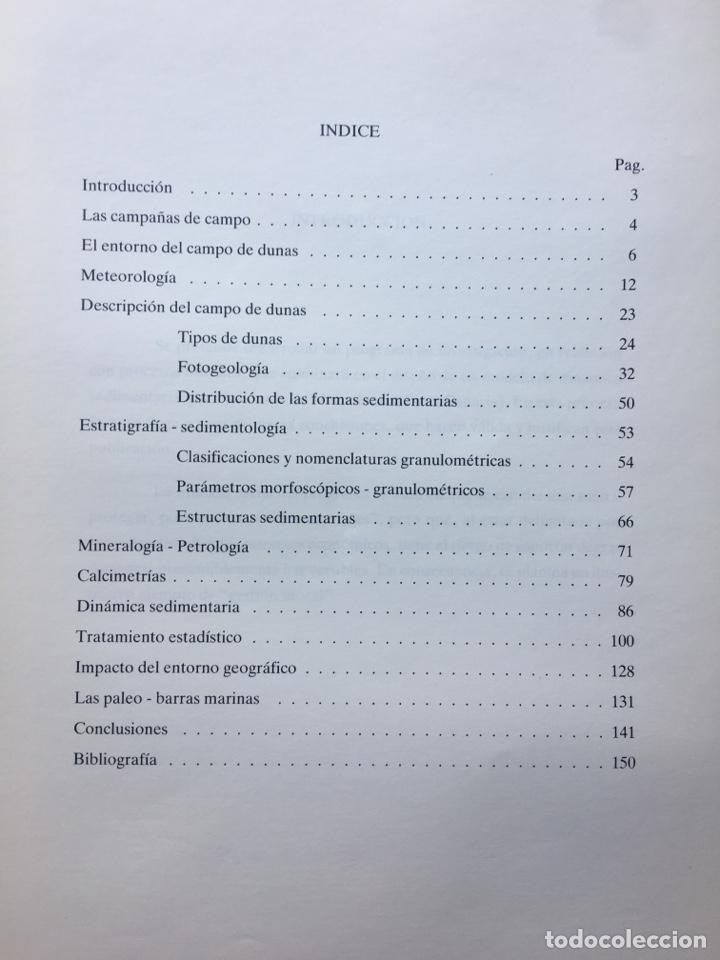 Libros de segunda mano: LAS DUNAS DE MASPALOMAS: GEOLOGIA E IMPACTO DEL ENTORNO. universidad politécnica las Palmas - Foto 3 - 169951152