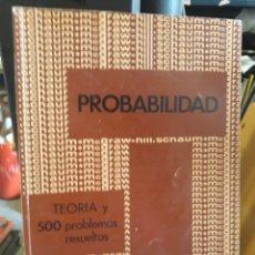 Libros de segunda mano de Ciencias: TEORIA Y 500 PROBLEMAS RESUELTOS. Lote 169967454