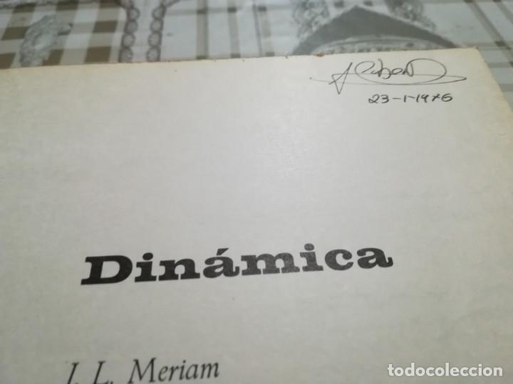 Libros de segunda mano de Ciencias: Dinámica - J.L. Meriam - Foto 7 - 170212304