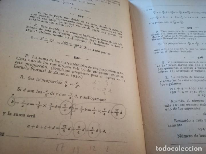 Libros de segunda mano de Ciencias: Colección de problemas de aritmética, geometría, álgebra y física elemental - V.F. Ascarza-E. Solana - Foto 7 - 170306728