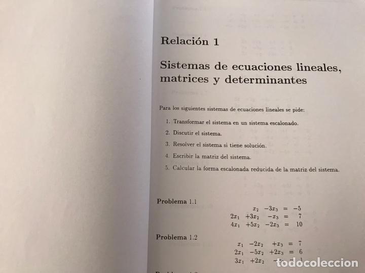 Libros de segunda mano de Ciencias: Álgebra lineal y geometría analítica. Relación de problemas. Universidad de Granada. 1996 - Foto 3 - 170368889