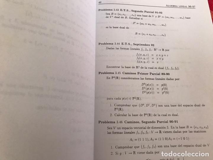 Libros de segunda mano de Ciencias: Álgebra lineal y geometría analítica. Relación de problemas. Universidad de Granada. 1996 - Foto 5 - 170368889