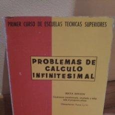 Libros de segunda mano de Ciencias: PROBLEMAS DE CALCULO INFINITESIMAL. Lote 170521661