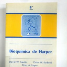 Libros de segunda mano de Ciencias: BIOQUIMICA DE HARPER. DAVID W. MARTIN. VICTOR W. RODWELL. PETER A. MAYES. TDK386. Lote 170582185