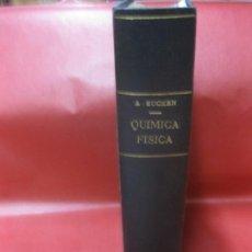 Libros de segunda mano de Ciencias: QUIMICA FISICA. ARNALDO EUCKEN.. MANUEL MARIN, EDITOR 1941. Lote 171126833