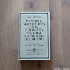 Libros de segunda mano de Ciencias: PRINCIPIOS MATEMATICOS DE LA FILOSOFÍA NATURAL Y SU SISTEMA DEL MUNDO. ISAAC NEWTON.. Lote 171199067