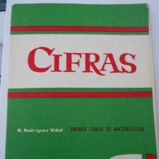 Libros de segunda mano de Ciencias: CIFRAS. PRIMER CURSO DE MATEMATICAS. R. RODRIGUEZ VIDAL. EDICIONES TEIDE, 1963. TAPA BLANDA. 188 PAG. Lote 171218953
