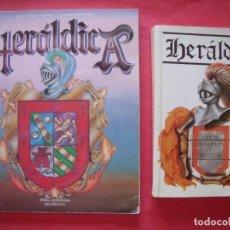 Libros de segunda mano: HERALDICA.-JULIO OLMEDO ALVAREZ.-JOAQUIN DIAZ VALLES.-LOTE DE 2 LIBROS SOBRE HERALDICA.. Lote 171442669