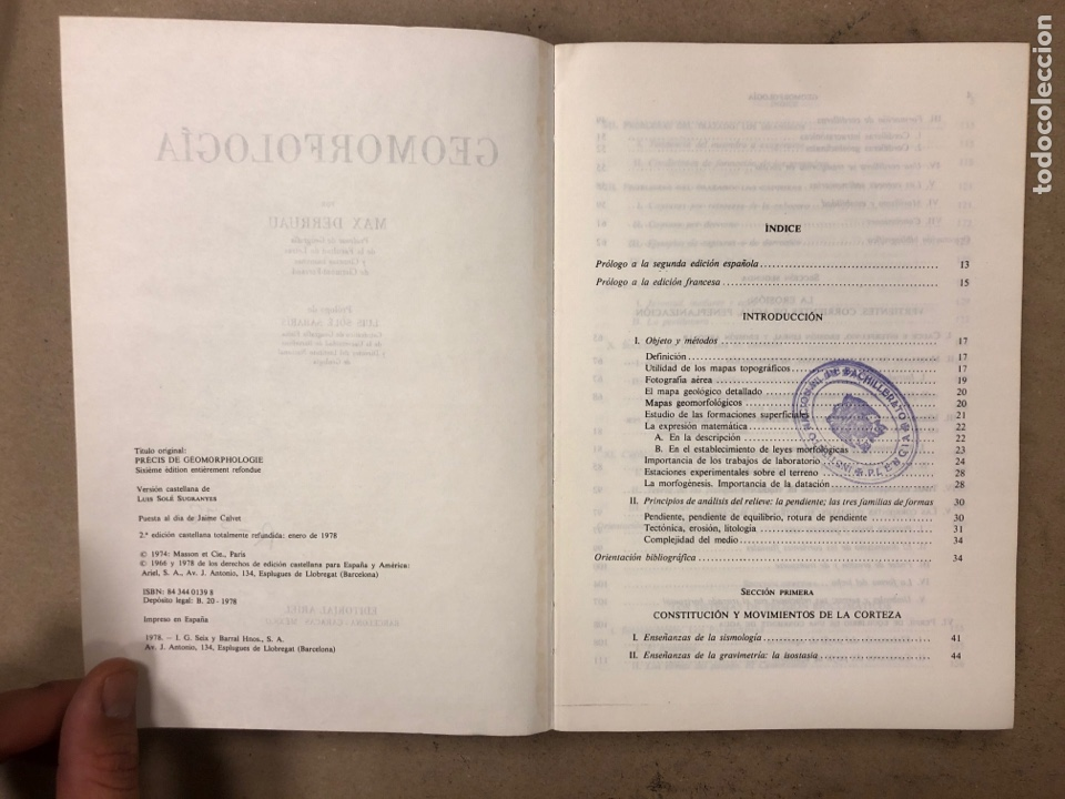 Libros de segunda mano: GEOMORFOLOGÍA. MAX DERRUAU. EDITORIAL ARIEL 1978. ILUSTRADO. 528 PÁGINAS. - Foto 3 - 171464300