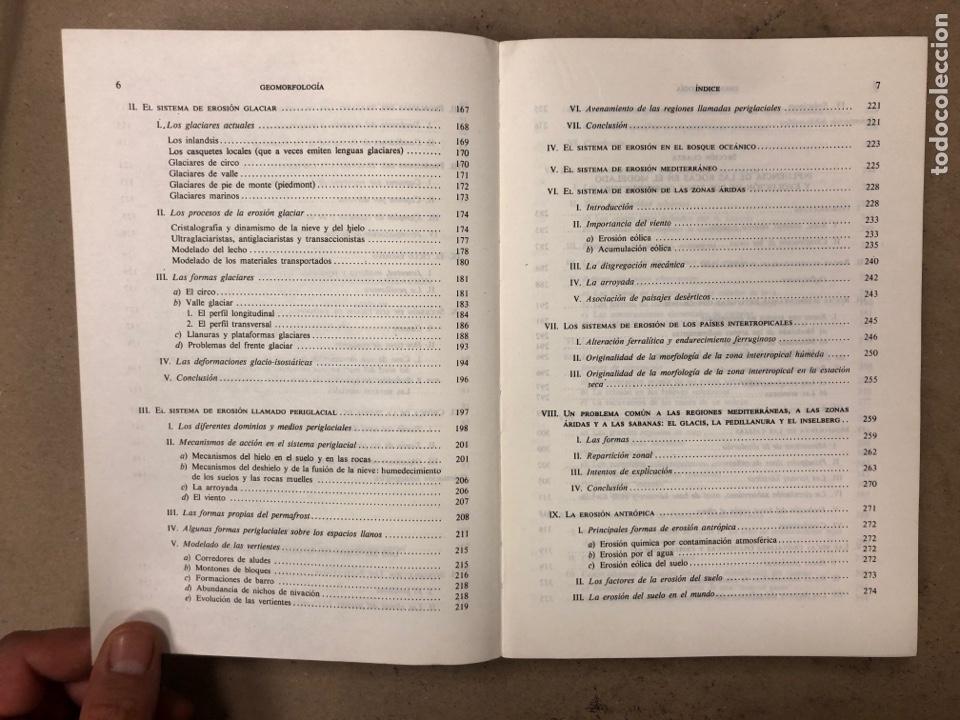 Libros de segunda mano: GEOMORFOLOGÍA. MAX DERRUAU. EDITORIAL ARIEL 1978. ILUSTRADO. 528 PÁGINAS. - Foto 5 - 171464300