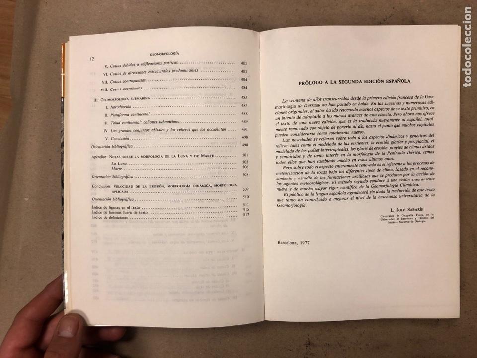 Libros de segunda mano: GEOMORFOLOGÍA. MAX DERRUAU. EDITORIAL ARIEL 1978. ILUSTRADO. 528 PÁGINAS. - Foto 8 - 171464300