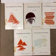 Libros de segunda mano: LOTE 5 LIBROS COLECCIÓN FUNDAMENTOS DE LAS CIENCIAS DE LA TIERRA DE EDICIONES OMEGA.. Lote 171599452