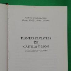 Livres d'occasion: PLANTAS SILVESTRES DE CASTILLA Y LEÓN ESCROFULARIÁCEAS-GRAMÍNEAS 1993. Lote 171830945