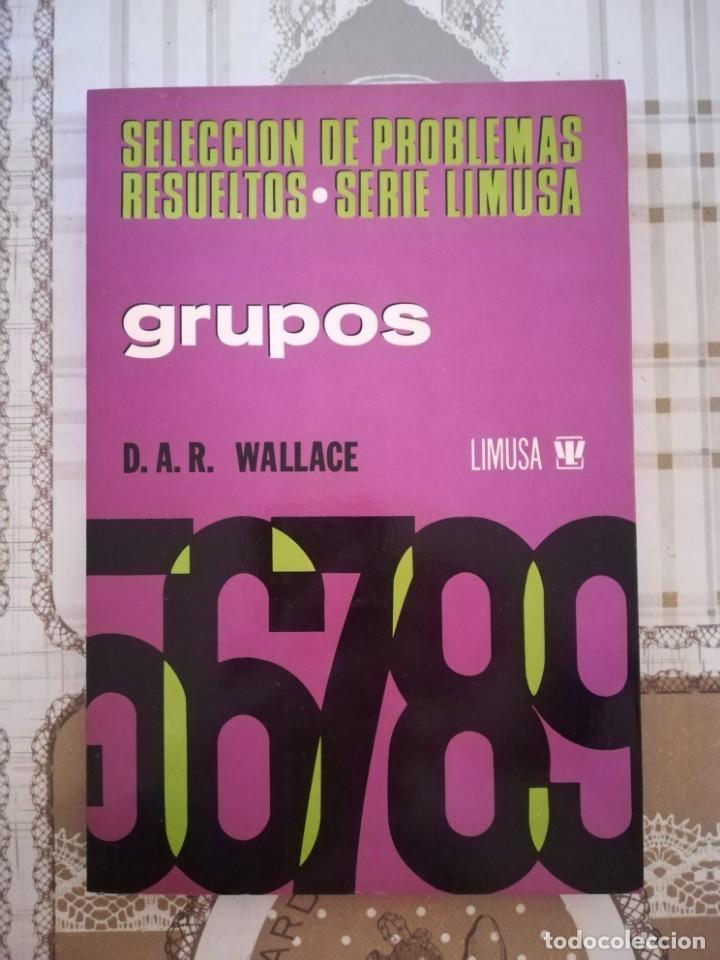 GRUPOS. SELECCIÓN DE PROBLEMAS RESUELTOS - D.A.R. WALLACE - SERIE LIMUSA - MÉXICO 1978 (Libros de Segunda Mano - Ciencias, Manuales y Oficios - Física, Química y Matemáticas)
