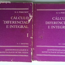 Livres d'occasion: CÁLCULO DIFERENCIAL E INTEGRAL I-II COMPLETA - N.S. PISKUNOV - EDITORIAL MIR. Lote 172109520